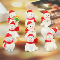 Christmas Mini Snowmen Christmas Figurines Garden Decor Snow Landscape Model IY
