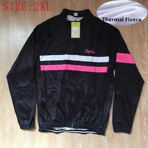 Men Long Sleeve Cycling Jersey Winter Thermal Fleece jersey MTB Clothes Size 2XL