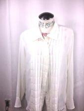 Jordan Women's Top Button Down  XL Ivory Color dress blouse
