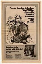 Jonathan Kelly Riff-Raff Tour advert 1973