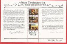 600 Jahre Bodenrecht Sesmarias Block 17 Portugal mit Ersttags-Sonderstempel