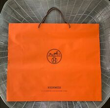 Authentic HERMES Huge Shopping GIFT BAG PAPER Tote for Birkin 35/40 Kelly Lindy
