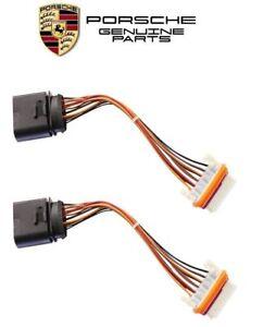 Genuine Porsche Cayenne Halogen Headlight Wiring Harnesses Set (x2) 95563123901