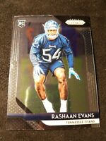 2018 Panini Prizm Football #251 Rashaan Evans RC Tennessee Titans