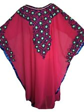 *NEW* J70 Dubai Thread Kaftan Farasha Jalabiya Abaya Maxi Dress in  5 Colours