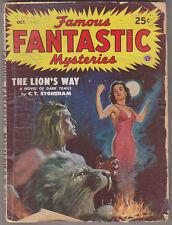 C1 FAMOUS FANTASTIC MYSTERIES 10 1948 SF Pulp FINLAY Tenn BRADBURY Tarzan ide
