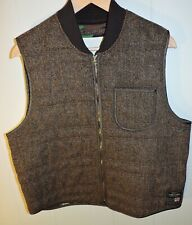 XL Men's Ralph Lauren Wool Denim and Supply Camo Lined Military Tweed Vest