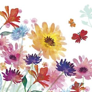 Watercolour Floral Charity Greeting Card Sold to Support Royal Trinity Hospice