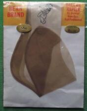 c1950 Sz 9.5 Bear Brand Dallas Rapier Point Heel Seamed Vintage Stockings Mink