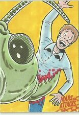 2016 Topps Mars Attacks Occupation - Bug Attack Sketch Card by Russ Maheras