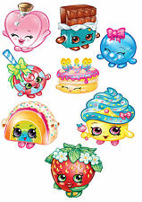 t shirt transfers . iron on  * shopkins  x 8