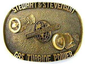 STEWART & STEVENSON GAS TURBINE (Madison) hydroplane boat racing BELT BUCKLE b1