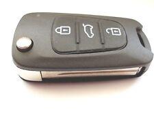 Replacement 3 button flip key case for Hyundai I10 I20 I30 remote fob