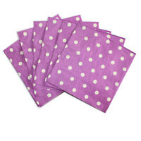 20 pcs Polka Dot Colorful Paper Napkins For Festival Party Decoration 33cm 2 Ply