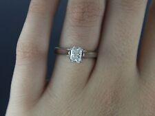 $4,250 14K White Gold Platinum IGI 0.73ct Radiant Diamond Engagement Ring Band