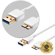 Samsung Galaxy S5 / Note 3 [White Slim Ultra Fast] Usb 3.0 Charging Data Cable