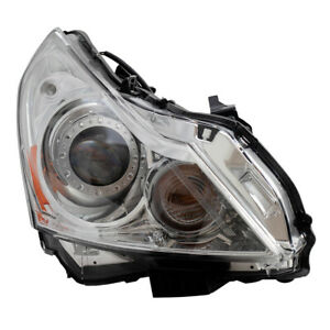 Passenger HID Headlight Clear Lens Lamp Assembly for Infiniti G37 Sedan G25 Q40