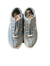 Nwot Ladies Classic Suede Tretorn Tennis Shoes Light Blue With White Logo Size 7