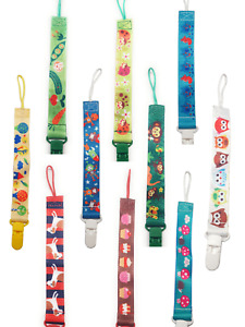 Set of 3 Dummy Clips Spirius Holder Soother Pacifier chain boys girls baby strap
