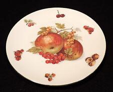 Seltmann Weiden fruit plate red apples grapes nuts gold trim Bavaria