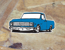 Chevy c10 1967 1698 1969 1970 - 1972 Sticker Pickup Truck Whitewall Window Decal