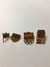 Lot Of 4 Coca Cola  Olympic USA Lapel Pins Gymnastics Cycling Circles DRW 1/3