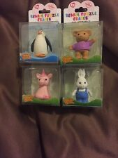 TY BEANIE IWAKO COLLECTABLE PUZZLE ERASERS LOT OF 4- NEW!! (2) ALL NAMED!!