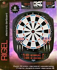 New listing NEW GLD Products 42-1032 Fat Cat Rigel Electronic 13 Inch Dartboard with 6 Darts