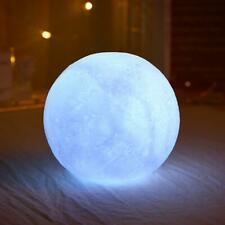 Silicone Moon Lamp White LED Night Light Battery Home Bedroom Decor Kids Gift