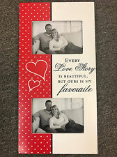 LOVE STORY PHOTO FRAME ~ WOODEN WALL SIGN HOME DECOR ~ GREAT GIFT IDEA