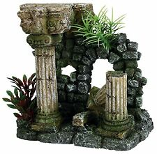 Roman ruine & plantes décoration ornement pour aquarium fish tank