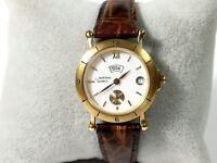 Reloj pulsera mujer AMSTRAD Quartz original Vintage funciona con día y fecha 9ef27a3d0952
