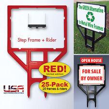 18x24 Real Estate Sign Frame **RED** 25-Pack Yard Sign Frames for Realtors