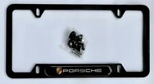License Plate Frame Porsche Plate Frame Black Aluminum
