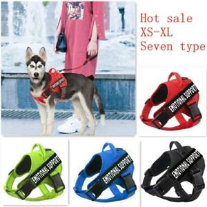 Dog Harness Pet Strong Harness Non Pull Four Color Function Words Dog Leash