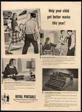 1947 ROYAL Portable Typewriter - School - Education - Student - Retro VINTAGE AD