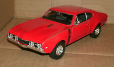 1/24 Scale 1968 Oldsmobile 4-4-2 Diecast Model 442 V8 Muscle Car Welly 24024 Red