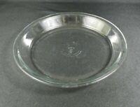 "Vintage Anchor Hocking Pie Plate 9"" Clear Flat Rim"