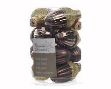 12 ARBRE DE NOËL VERRE trèfle Décorations pour boules schokoladenbr 012537