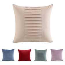 Velvet Stripe Solid Cushion Cover Home Office Sofa Car Throw Pillow Case 18''