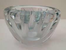 Michael D. Boyd Foci Signed Dated Blown Glass Bowl - Feather Controlled Bubbles
