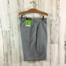 NWT IZOD Men's Golf Shorts Size 32 Light Gray Silver Nickel New