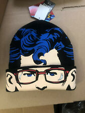 Superman Clark Kent Flip-Down Beanie Hat Mask Adult One Size New With Tags