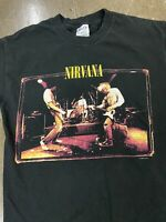 Vtg 1996 Nirvana Black Double Sided Band Tee Sz Medium From The Muddy Banks