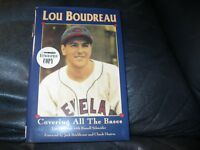 Covering All the Bases Book Autographed by Lou Boudreau JSA Auc Certified