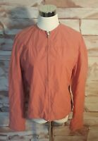 Banana Republic Large Salmon Full Zip Jacket Lined Lightweight