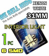 31mm 6 SMD LED Blanco Luz Interior Festoon Bombillas 269 Honda Toyota Mazda Pajero