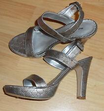 Madden Girl Silver Strappy G Sheek Platform Dressy Heels Sandal  Size 8.5M