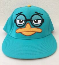 Disney Phineas And Ferb Hat Snapback Cap Perry The Platypus Adjustable Teal