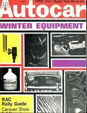Autocar Magazine November 14 1968 Winter Equipment VG No ML 040717nonjhe